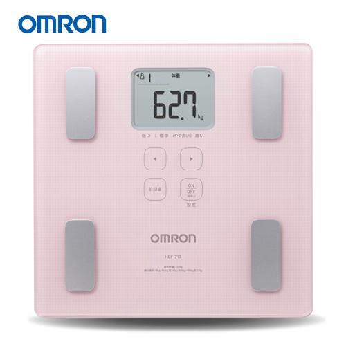 OMRON 歐姆龍體脂計 HBF-217(粉紅色)-(贈可愛小熊自動捲尺)